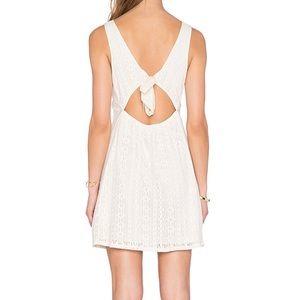 C&C California Lace Tie Back dress in vanilla